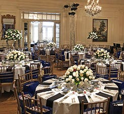 Various centerpieces and standing arrangements to suit a wedding reception